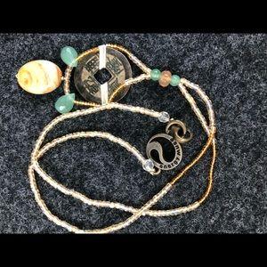 Carnelian, Lace Agate & Green Aventurine necklace